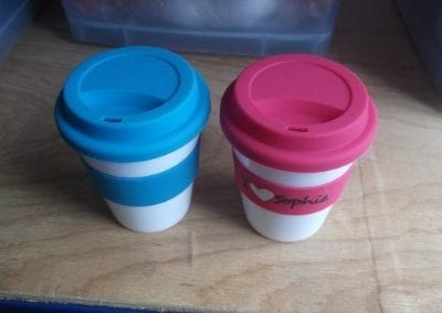 12oz (350ml) plastic reusable coffee cup