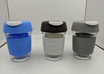 Glass 12oz re-usable coffee cups (David)
