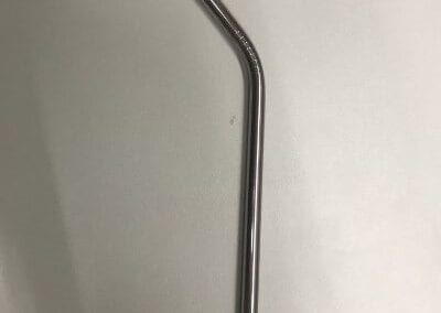 Stainless steel straw - bent (1)